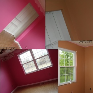 (4/22/12) Remember the Pepto room? Thankfully, it covered in 2 coats!