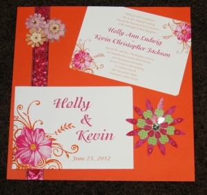 Page one of Holly and Kevin's Wedding Scrapbook