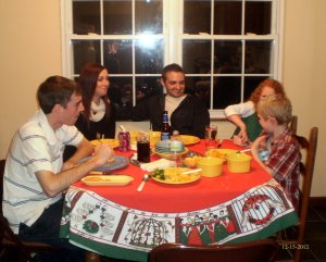 "Every holiday, Someone has to sit at the ""kid's"" table!"