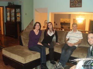 "Carol hanging with the ""younguns"" on the couch."