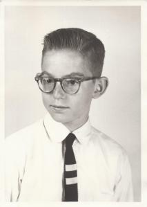 Dad (Tom) at about 12 years (1954-1955 school year)