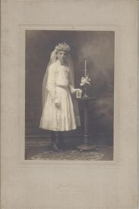 Grandma (Hermina) on her First Communion